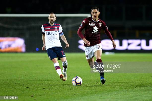 Sasa Lukic of Torino FC in action during the Serie A football match between Torino Fc and Bologna Fc Bologna Fc wins 32 over Torino Fc
