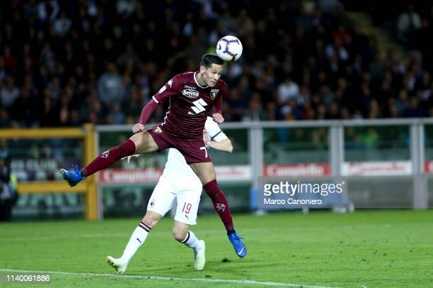Sasa Lukic of Torino FC in action during the Serie A football match between Torino Fc and Ac Milan. Torino Fc wins 2-0 over Ac Milan.
