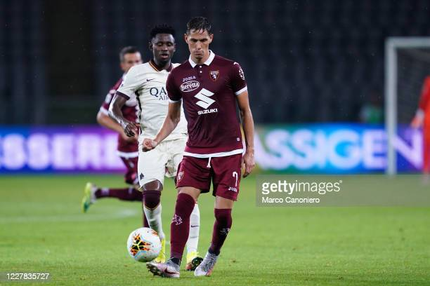 Sasa Lukic of Torino FC in action during the Serie A match between Torino Fc and As Roma As Roma wins 32 over Torino Fc