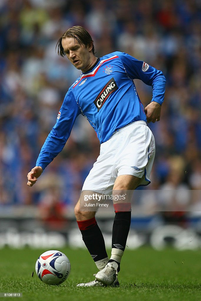 Sasa Papac of Rangers in action during The Clydesdale Bank Scottish Premier League match between Rangers and Dundee United at Ibrox Stadium on May 10, 2008 in Glasgow, Scotland.