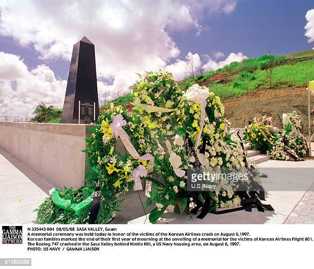 Sasa Valley, Guam A Memorial Ceremony Was Held Today In Honor Of The Victims Of The Korean Airlines Crash On August 6,1997. Korean Families Marked...