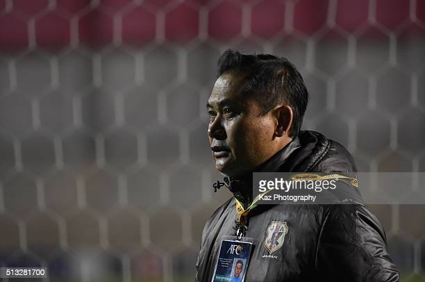 Sasaki Norio manager of Japan thanks for the supporters during the AFC Women's Olympic Final Qualification Round match between Japan and South Korea...