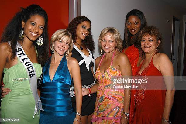 Sascha AndrewRose Miss St Lucia Anya Devoe Cristianne Andrew Rose Jackie Smith Kerry McDowell and Liz AndrewRose attend Miss Universe Post Pageant...