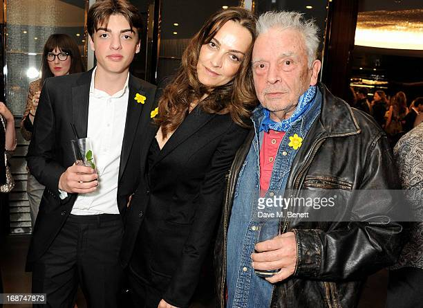 Sascha Bailey Catherine Bailey and David Bailey attend the launch of Samsung's NX Smart Camera at a charity auction with David Bailey in aid of Marie...