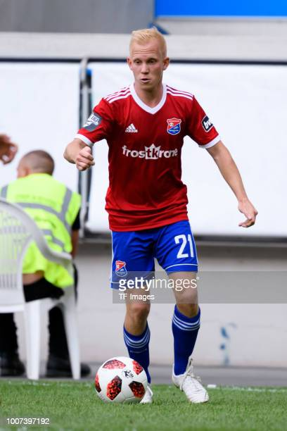 Sascha Bigalke of Haching controls the ball during the 3 Liga match between KFC Uerdingen 05 and SpVgg Unterhaching at GrotenburgStadion on July 29...