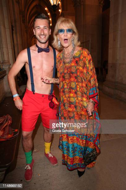 Sascha Gill and Dagmar Koller during the Life Ball 2019 after show party on June 8 2019 in Vienna Austria After 26 years the charity event Life Ball...