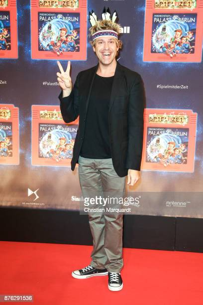Sascha Grammel attends the premiere of children's show 'Spiel mit der Zeit' at Friedrichstadtpalast on November 19 2017 in Berlin Germany