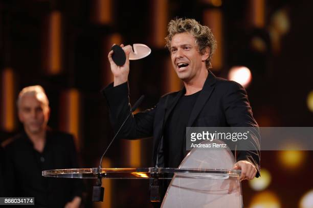 Sascha Grammel receives his award for 'Best TVProgram' during the 21st Annual German Comedy Awards on October 24 2017 in Cologne Germany