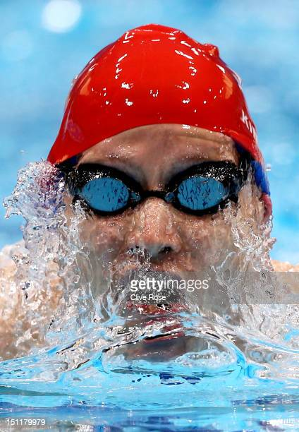 Sascha Kindred of Great Britain competes in the Men's 200m Individual Medley SM6 heat 2on day 5 of the London 2012 Paralympic Games at Aquatics...