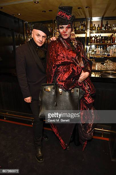 Sascha LilicDaniel Lismoreattends the launch of model Pat Cleveland's new book Walking With The Muses at Blakes Below on September 17 2016 in London...