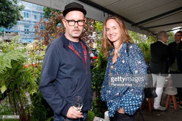 Sascha Pietsch and Bianca Lang attend the 'Krug Kiosk' Event on July 11 2017 in Hamburg Germany