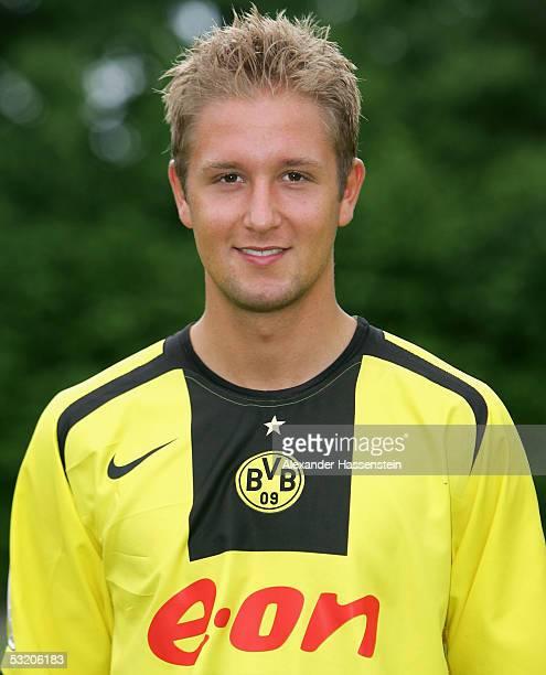 Sascha Rammel poses during the team presentation of Borussia Dortmund for the Bundesliga season 2005 2006 on July 6 2005 in Gottingen Germany