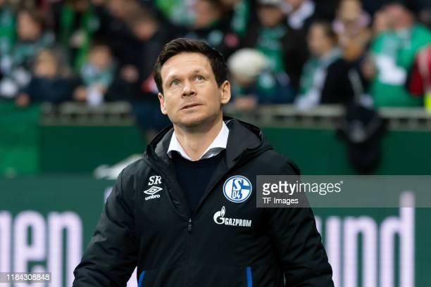 Sascha Riether of FC Schalke 04 looks on during the Bundesliga match between SV Werder Bremen and FC Schalke 04 at Wohninvest Weserstadion on...