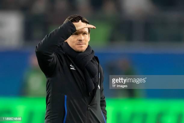 Sascha Riether of Schalke looks on during the Bundesliga match between VfL Wolfsburg and FC Schalke 04 at Volkswagen Arena on December 18, 2019 in...