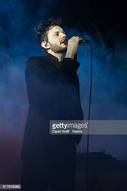 Sascha Ring from Moderat performs at L'Olympia on March 28 2016 in Paris France