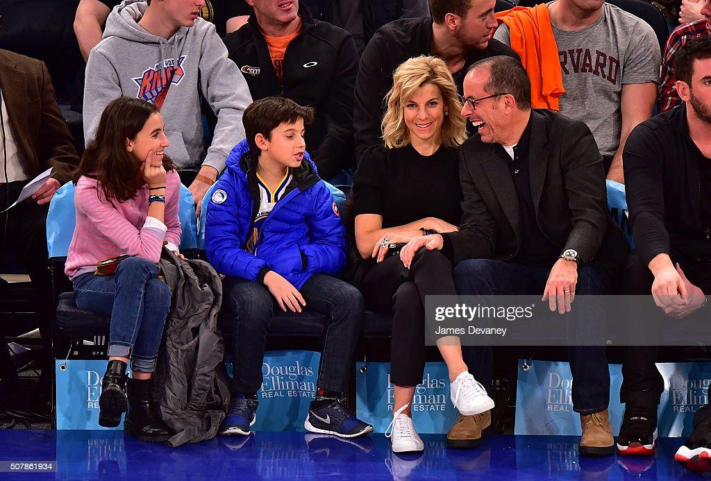 Celebrities Attend The Golden State Warriors Vs New York Knicks Game - January 31, 2016 : Foto di attualità