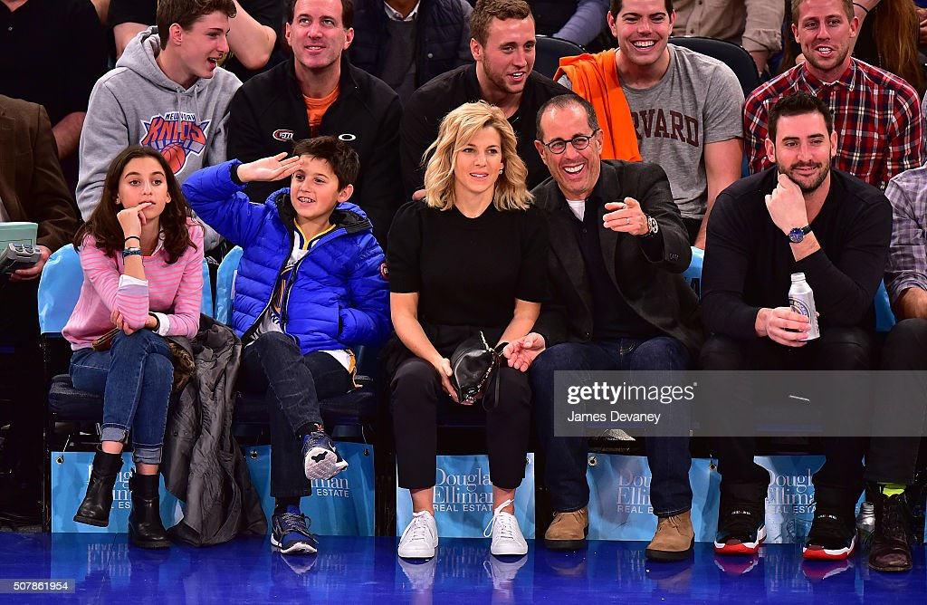 Celebrities Attend The Golden State Warriors Vs New York Knicks Game - January 31, 2016 : News Photo