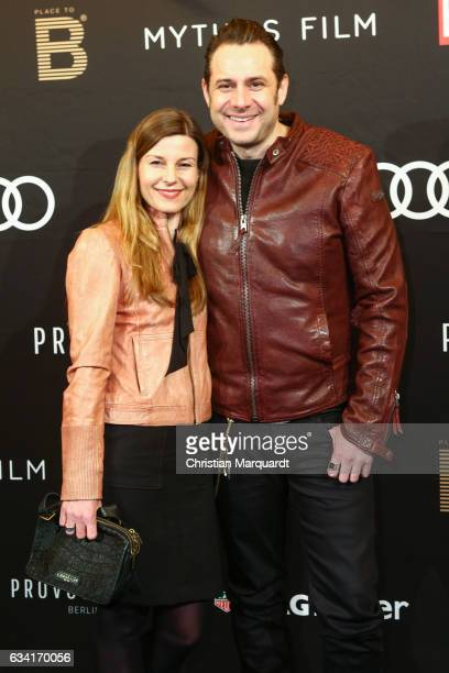 Sascha Vollmer and his girlfriend Jenny attends the PLACE TO B preBerlinale dinner event at Provocateur on February 7 2017 in Berlin Germany