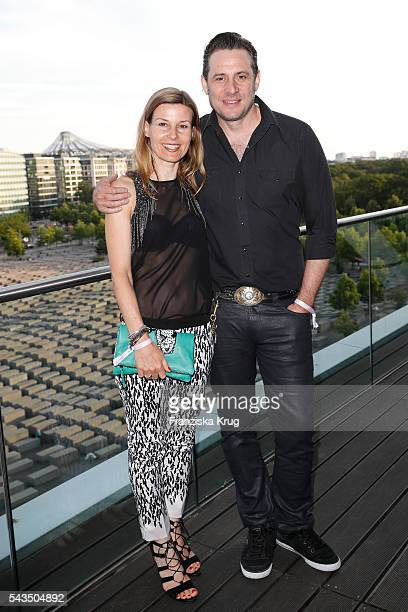 Sascha Vollmer and his partner Jenny attend the Marc Cain fashion show spring/summer 2017 at CITY CUBE Panorama Bar on June 28 2016 in Berlin Germany