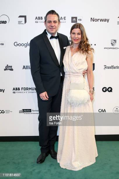 Sascha Vollmer and his wife Jennifer Vollmer during the Green Award as part of the Greentech Festival at Tempelhof Airport on May 24 2019 in Berlin...