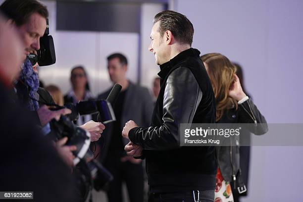 Sascha Vollmer attends the Marc Cain fashion show A/W 2017 at Deutsche Telekom representation on January 17 2017 in Berlin Germany