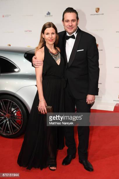 Sascha Vollmer of the band 'The BossHoss' and girlfriend Jenny Stock attend the Leipzig Opera Ball on November 4 2017 in Leipzig Germany