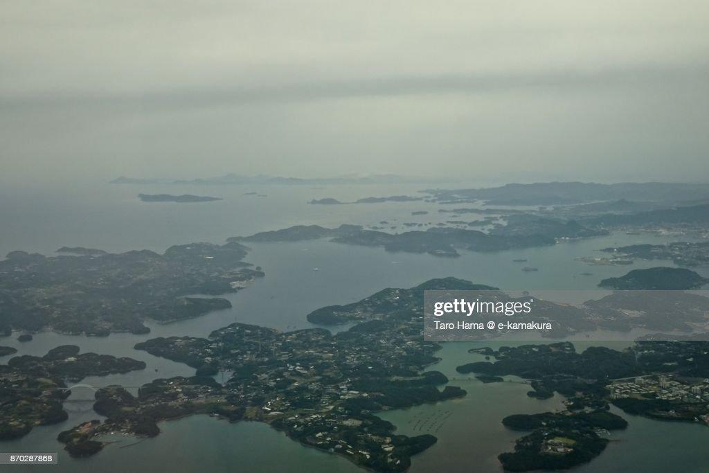 Sasebo City In Nagasaki Prefecture In Japan Aerial View From