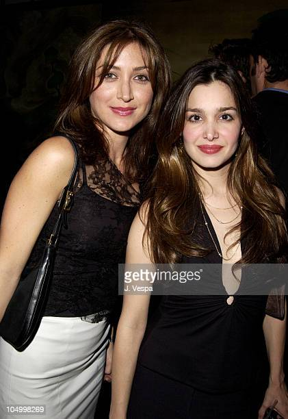 Sasha Alexander and Gina Philips during Maxim Hot 100 Party Inside at Yamashiro in Hollywood California United States