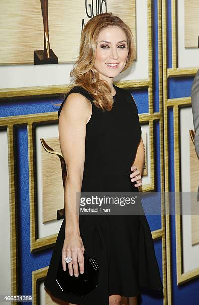 Sasha Alexander arrives at the 2014 Writers Guild Awards LA Ceremony held at JW Marriott Los Angeles at LA LIVE on February 1 2014 in Los Angeles...
