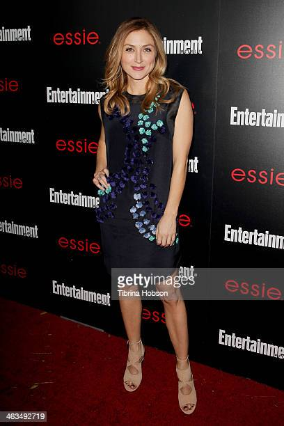 Sasha Alexander attends the Entertainment Weekly SAG Awards preparty at Chateau Marmont on January 17 2014 in Los Angeles California