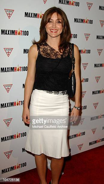 Sasha Alexander during Maxim Hot 100 Party Arrivals at Yamashiro in Hollywood California United States