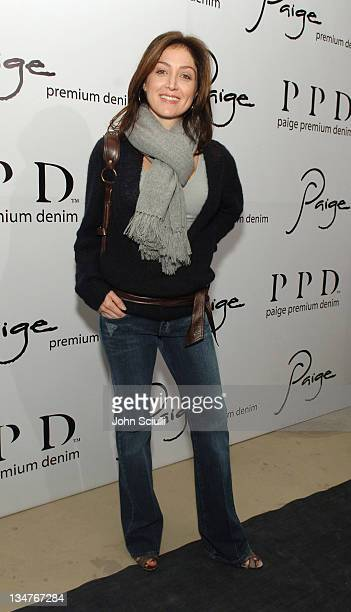 Sasha Alexander during Paige Premium Denim Party Red Carpet and Inside at Paige Premium Denim Flagship Store in Beverly Hills California United States