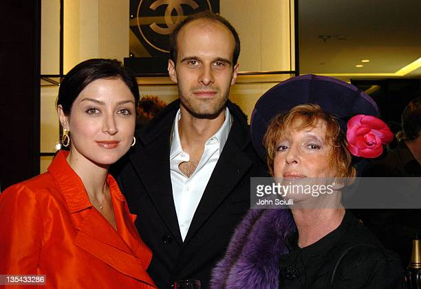 Sasha Alexander Edoardo Ponti and Anne Volokh during Chanel's Special Premiere Screening of No5 The Film at Chanel Boutique in Beverly Hills...