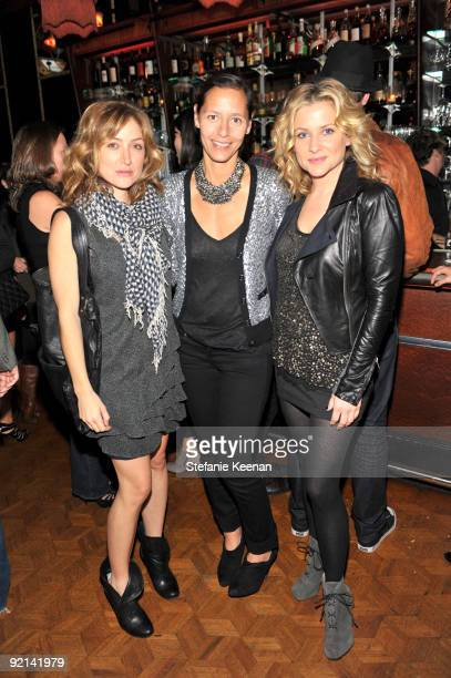 Sasha Alexander Marlien Rentmeester and Jessica Capshaw attend the Fall 2009 Denim Tour with Lucky Magazine held at Chateau Marmont's Bar Marmont on...