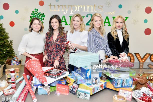 Sasha Alexander Norah Weinstein Julie Bowen Kelly Sawyer Patricof and Rachel Zoe attend Tiny Prints Presents The Baby2Baby Holiday Wrapping Party at...