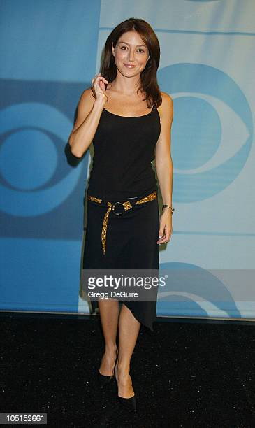 Sasha Alexander of 'Navy NCIS' during 2003 TCA Summer Press Tour CBS Party in Hollywood California United States