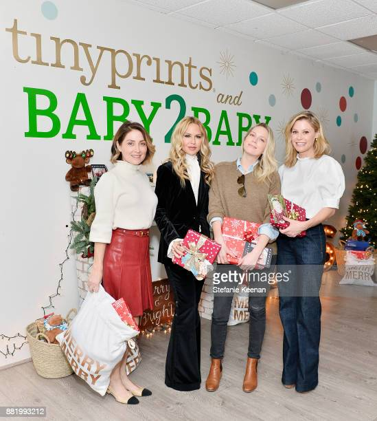 Sasha Alexander Rachel Zoe Erin Foster and Julie Bowen attend Tiny Prints Presents The Baby2Baby Holiday Wrapping Party at Baby2Baby Headquarters on...