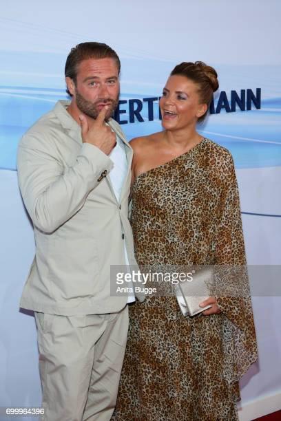 Sasha and his wife Julia Roentgen attend the Bertelsmann Summer Party at Bertelsmann Repraesentanz on June 22 2017 in Berlin Germany
