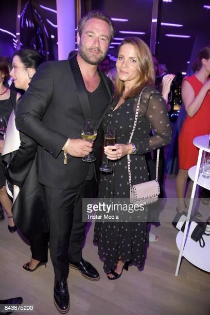 Sasha and his wife Julia Roentgen attend the Deutscher Radiopreis at Elbphilharmonie on September 7 2017 in Hamburg Germany