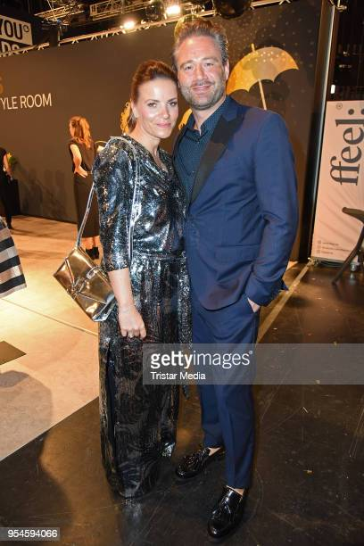 Sasha and his wife Julia Roentgen during the ABOUT YOU Awards at Bavaria Studios on May 3 2018 in Munich Germany
