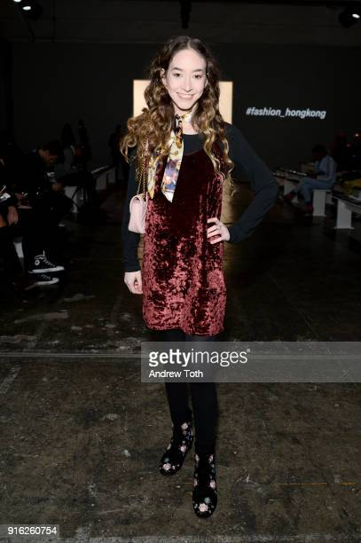 Sasha Anne attends the Fashion Hong Kong front row during New York Fashion Week The Shows at Industria Studios on February 9 2018 in New York City
