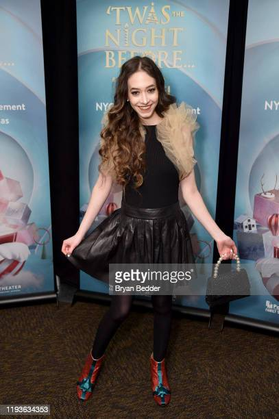 Sasha Anne attends the opening night of 'Twas The Night Before by Cirque Du Soliel at the Hulu Theater at Madison Square Garden on December 12 2019...