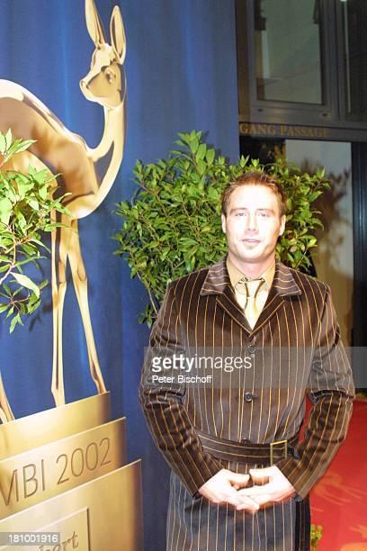 "Sasha, ARD-Gala""Bambi 2002"" Preisverleihung, ""Estrell""Hotel, Berlin, Deutschland, Europa , Medienpreis, Empfang, Sänger;P-Nr 1135/2002"