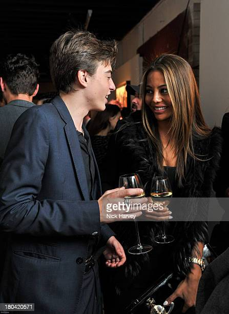 Sasha Bailey and Lady Emma Weymouth attend the Weber X Bailey by Nokia Lumia 1200 private view at Nicholls Clarke Building on September 12 2013 in...