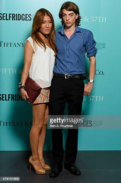 Sasha Bailey arrives at the Tiffany Co immersive exhibition 'Fifth 57th' at The Old Selfridges Hotel on July 1 2015 in London England