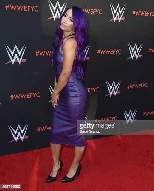 Sasha Banks arrives at the WWE's FirstEver Emmy For Your Consideration Event at Saban Media Center on June 6 2018 in North Hollywood California