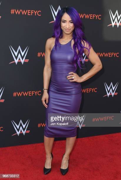 Sasha Banks attends WWE's FirstEver Emmy For Your Consideration Event at Saban Media Center on June 6 2018 in North Hollywood California