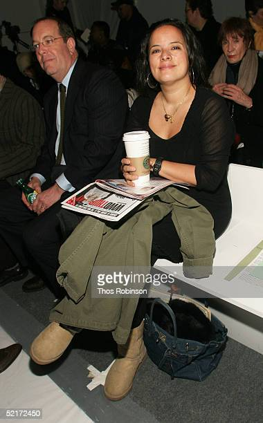 Sasha Char fashion director at Allure magazine attends the Jeffrey Chow Fall 2005 fashion show during the Olympus Fashion Week at Bryant Park...