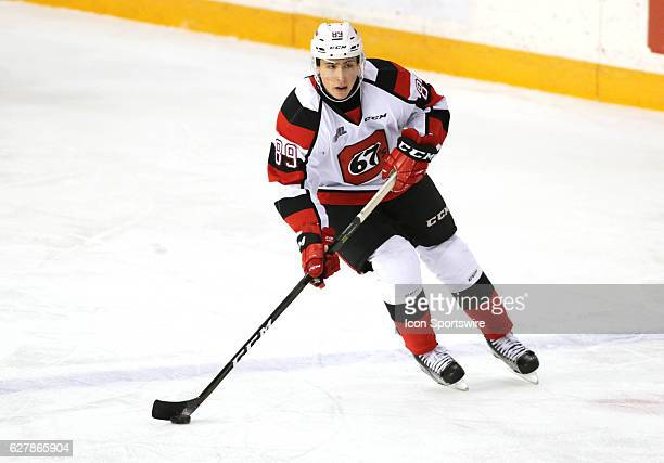 Sasha Chmelevski of the Ottawa 67's in Ontario Hockey League action at TD Place Stadium on in Ottawa Canada on 4 December 2016