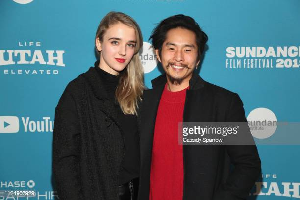 Sasha Chon and Director writer producer Justin Chon attend the Ms Purple Premiere during 2019 Sundance Film Festival at Library Center Theater on...